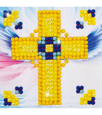 "Diamond Embroidery Facet Art Kit 4.7""X4.7""-Golden Cross"