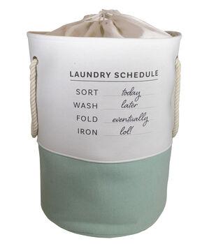 Tall Round Fabric Bin-Laundry Schedule