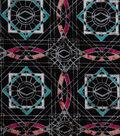 Modern Cotton Fabric 43\u0027\u0027-Linked Circles on Black