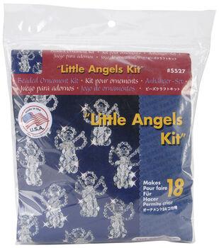 "Holiday Beaded Ornament Kit-Snow Crystals 3-1/2"" Makes 6"