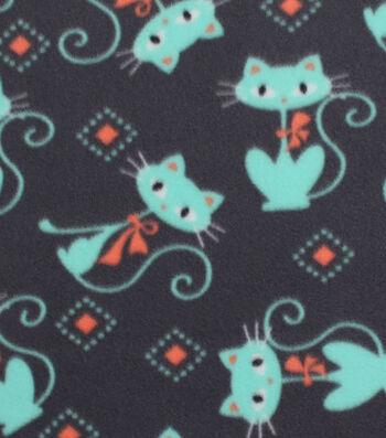 """Blizzard Fleece Fabric 59""""-Breeze Kitties"""