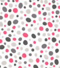 Snuggle Flannel Fabric -Pink Pebbles