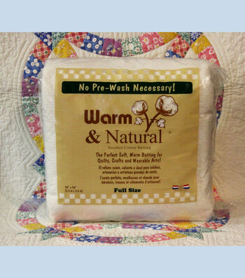 """The Warm Company Warm And Natural Cotton Needled Batting 90""""x96"""""""