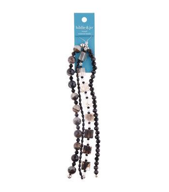 "hildie & jo 26"" Multi Strand Beads-Black"