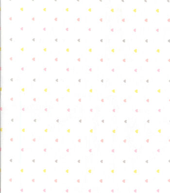 "Nursery Flannel Fabric 42""-Heart On White"
