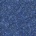 Indonesian Batik Cotton Fabric-Blue White Snow Dot