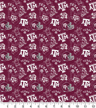 Texas A&M University Aggies Cotton Fabric-Tone on Tone