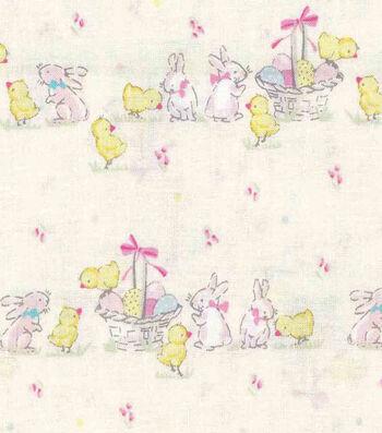 Easter Cotton Fabric -Garden Easter Friends