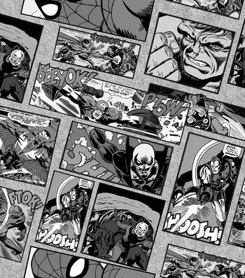 Marvel Comics Knit Fabric 58''-Retro Comics