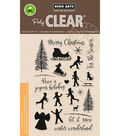 Hero Arts 22 pk Clear Stamps-Winter Silhouettes