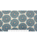 Anti-Pill Fleece Fabric 59\u0022-Teal Floral Medallion