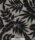 Tropic Time Burnout Organza Fabric 52\u0027\u0027-Black Tropical Leaves
