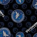 Minnesota Timberwolves Fleece Fabric -Logo Toss