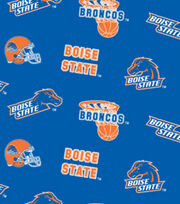 "Boise State University Broncos Fleece Fabric 58""-All Over, , hi-res"