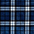 Luxe Flannel Fabric-Blue Plaid