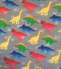 Doodles Juvenile Interlock Knit Fabric 57\u0027\u0027-Baby Dinos