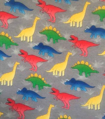 "Doodles Juvenile Interlock Knit Fabric 57""-Baby Dinos"