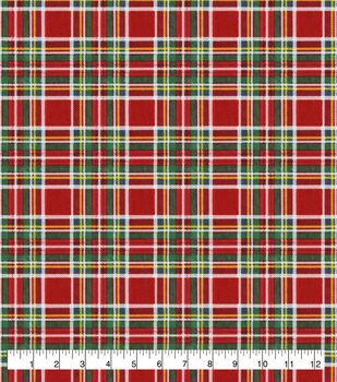 Super Snuggle Flannel Fabric-Christmas Tartan Plaid