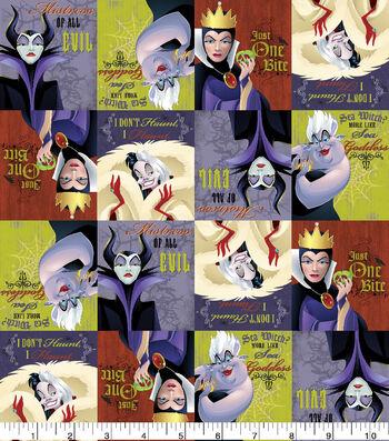"Disney Villains Halloween Cotton Fabric 43""-I Dont Haunt I Flaunt"