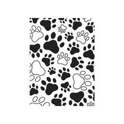 Darice Embossing Folder - Paw Prints, 4-1/4 x 5-3/4 inches, , hi-res
