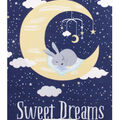 No Sew Fleece Throw-Sweet Dreams