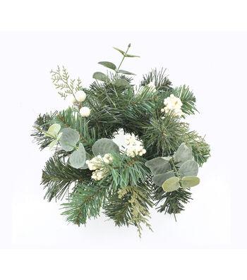 Blooming Holiday Christmas 11'' White Berry & Eucalyptus Mini Wreath