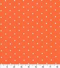 Quilter\u0027s Showcase Cotton Fabric -Aspirin Dots on Orange