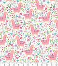 Snuggle Flannel Fabric 42\u0027\u0027-Pastel Patterned Llama