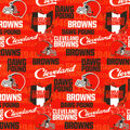 Cleveland Browns Cotton Fabric-Dawg Pound