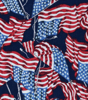 Snuggle Flannel Fabric -Flying Flags