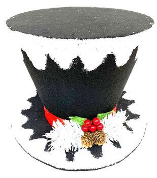Handmade Holiday Christmas Ho-Ho-Ho 6'' Hat Tree Topper
