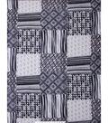 No Sew Fleece Throw 48\u0027\u0027-Gray Path Geometric