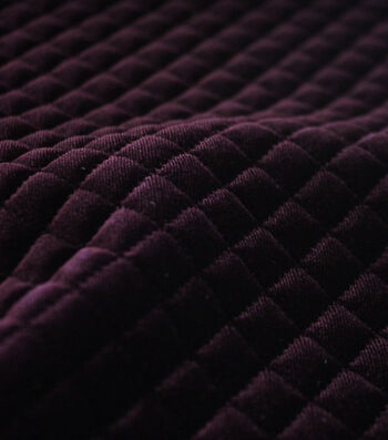 "Sportswear Quilted Stretch Velour Fabric 56""-Fig"