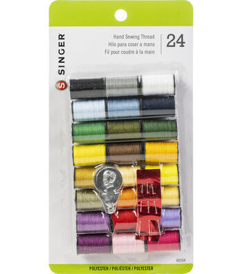 Singer Polyester Thread 24 Spools 10 Yards Each-Assorted Colors