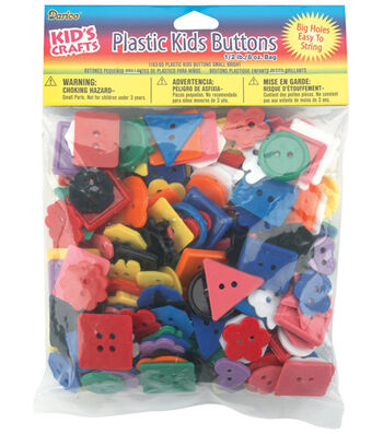 Darice Plastic Kids Buttons-1/2lb
