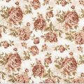 Premium Wide Cotton Fabric-Brown Large Floral