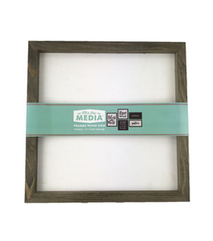 Mix the Media 12''x12'' Rustic Wood Frame