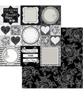BoBunny Black Tie Affair 25 pk 12\u0027\u0027x12\u0027\u0027 Double-Sided Cardstock-Formal