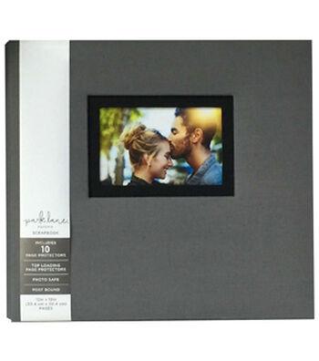 Park Lane 12''x12'' Scrapbook Album with Frame-Gray