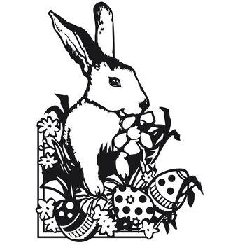 Darice Embossing Folder Easter Bunny
