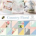 Park Lane 36 Pack 12\u0022x12\u0022 Premium Printed Cardstock Stack-Country Floral