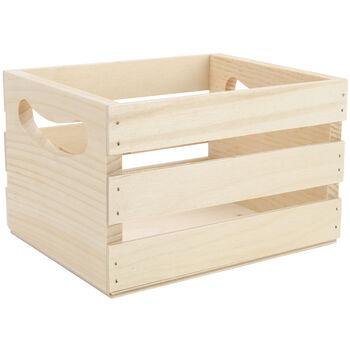 "Mini Wooden Crate w/Handles-6.5""X5.3""X4.25"""