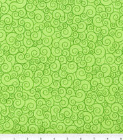 Keepsake Calico Cotton Fabric 44''-Lime Garden Swirl, , hi-res