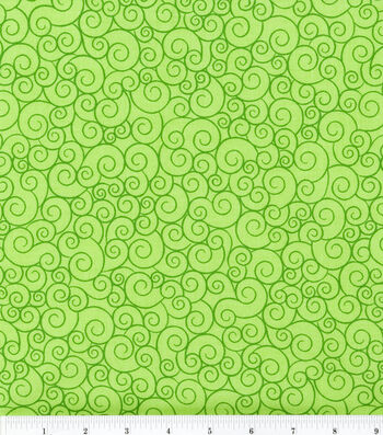 Keepsake Calico Cotton Fabric -Lime Garden Swirl