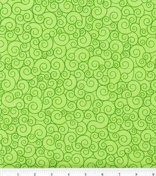 Keepsake Calico Cotton Fabric -Lime Garden Swirl