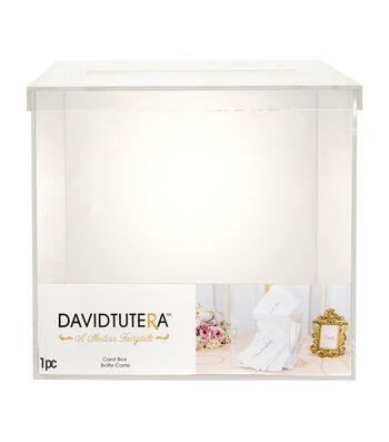 David Tutera Acrylic Card Box with Slit on Lid