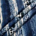 Stretch Chiffon Fabric 57\u0027\u0027-Cool Tones Boho Stripes