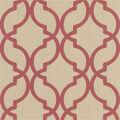 Harira Red Moroccan Trellis Wallpaper Sample