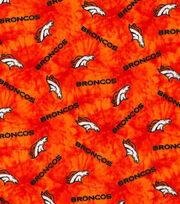 "Denver Broncos Flannel Fabric 42""-Tie Dye, , hi-res"