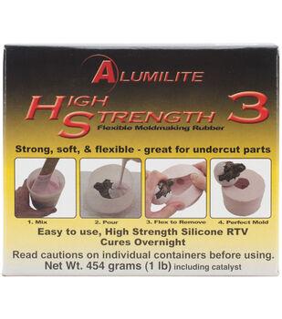 Alumilite 1 lb High Strength 3 Liquid Mold Making Rubber-Pink